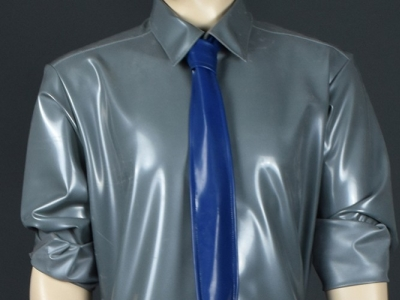 New: men's suit made of latex